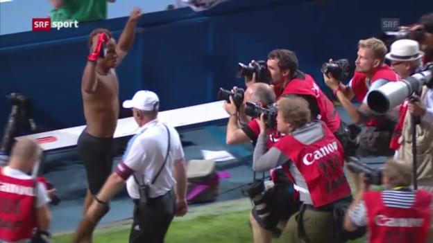 Video «Hozdeppe gewinnt Gold («sportaktuell»)» abspielen