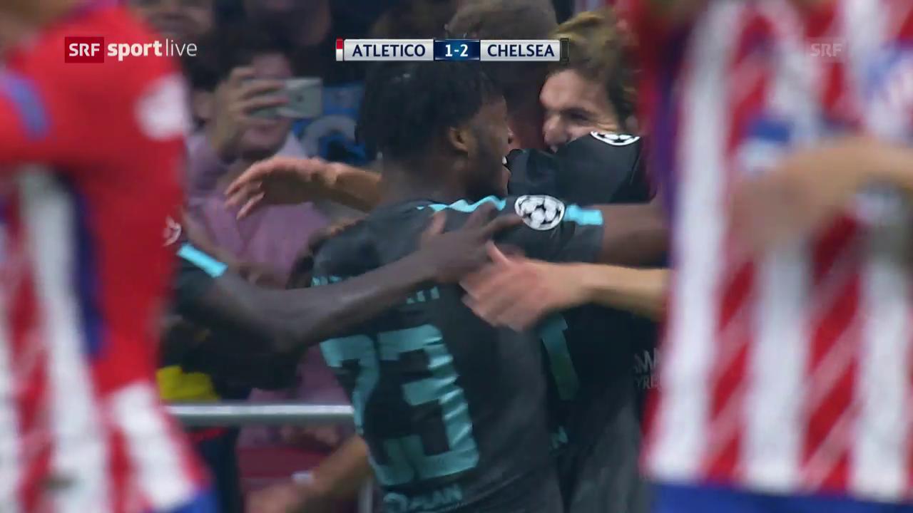 Chelsea siegt bei Atletico in letzter Sekunde