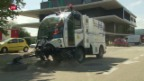 Video «Erstes Wasserstoff-Strassenputzauto im Dauertest» abspielen