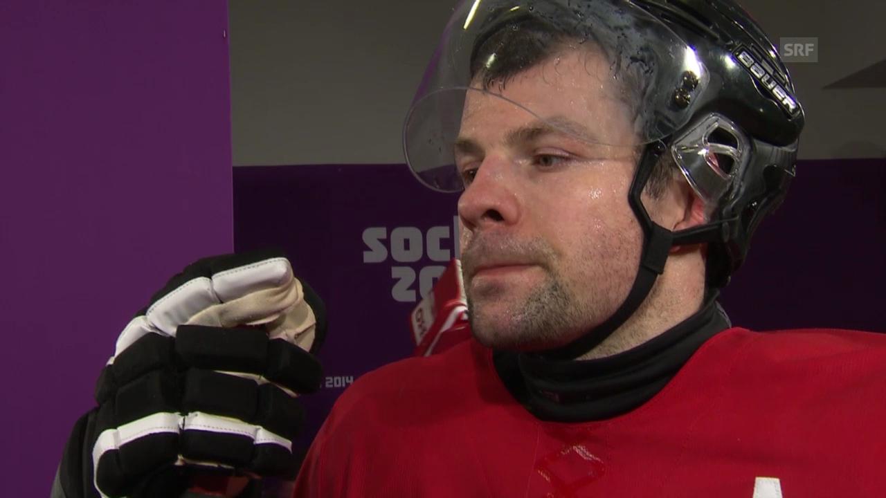 Eishockey: Interview mit Martin Plüss und Morris Trachsler (sotschi direkt, 18.02.2014)