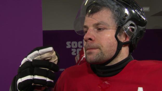 Video «Eishockey: Interview mit Martin Plüss und Morris Trachsler (sotschi direkt, 18.02.2014)» abspielen