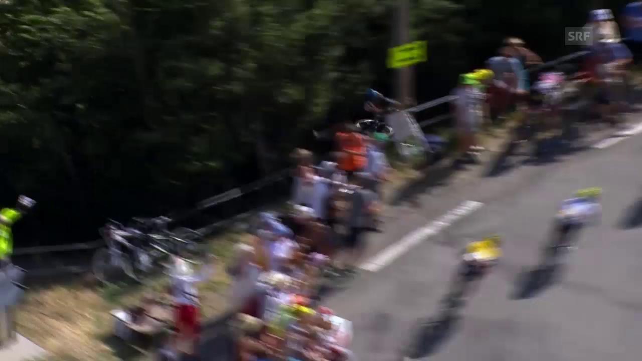 Rad: Tour de France 2015, 16. Etappe, Sturz Geraint Thomas