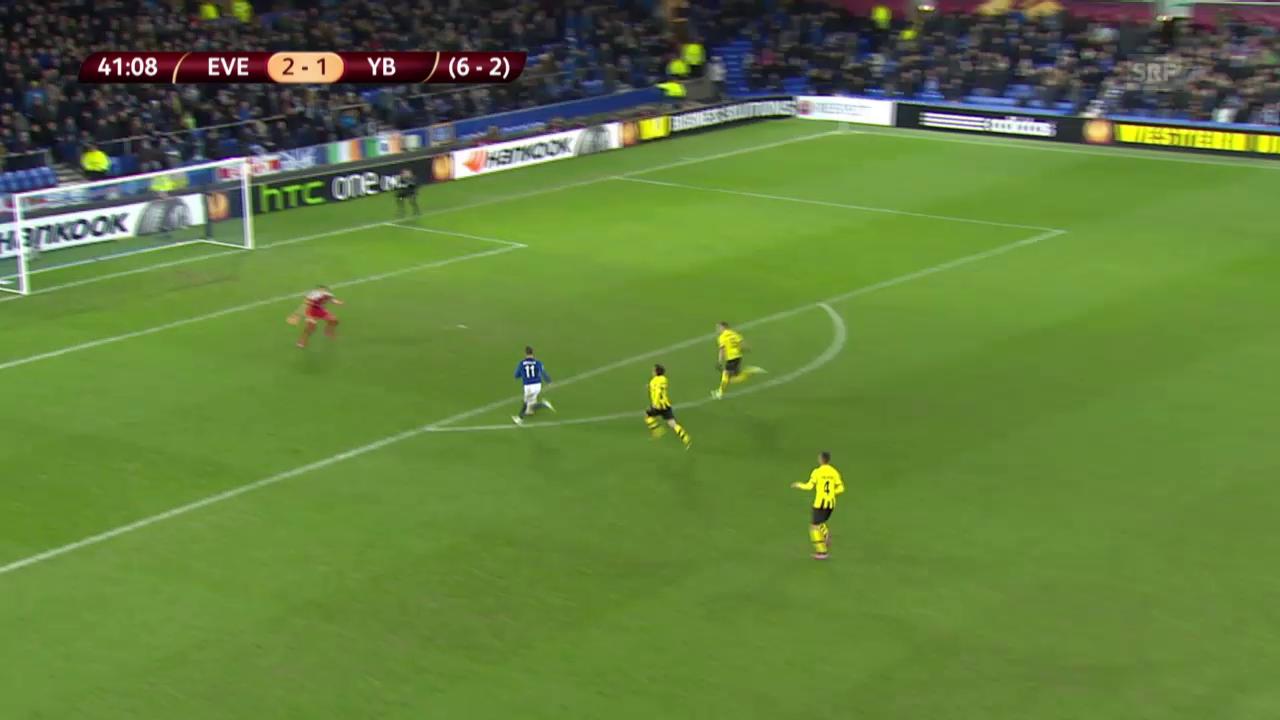 Fussball: Europa League, Highlights Everton - YB