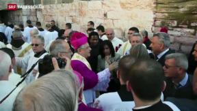 Video «Angespannte Lage in Bethlehem» abspielen