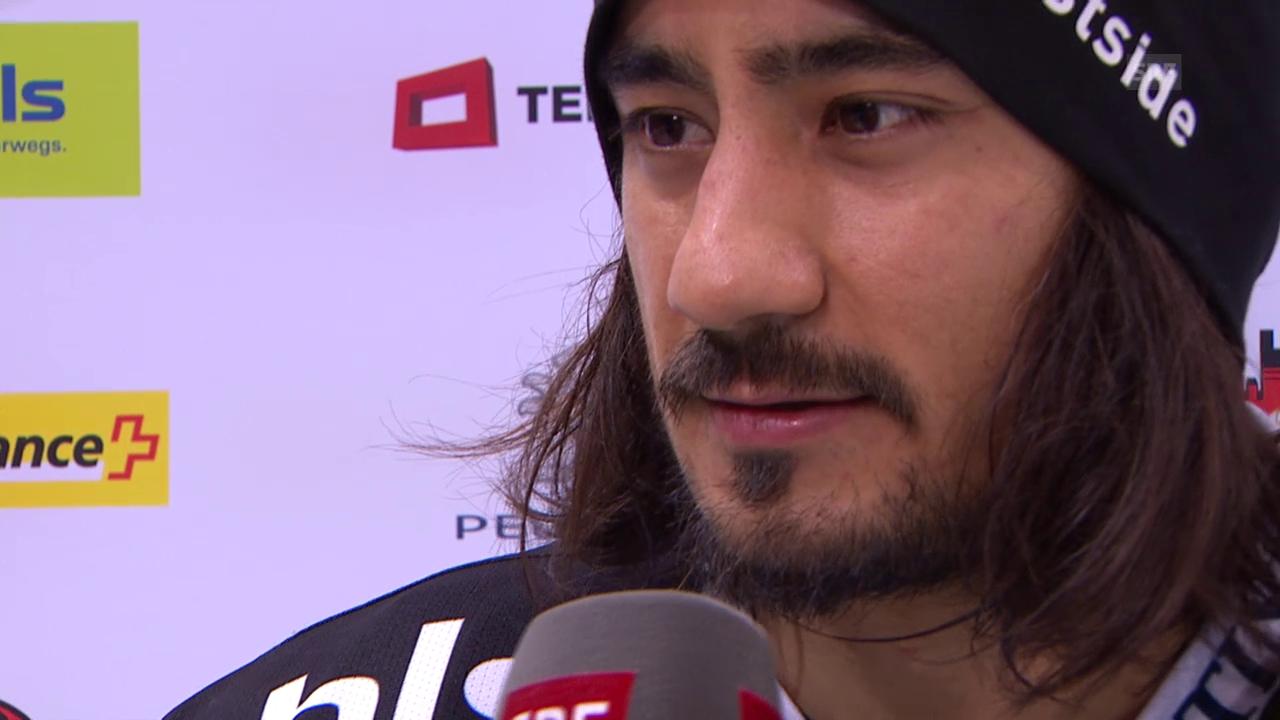 Eishockey: NLA, 28. Runde, Bern-Biel, Interview Blum