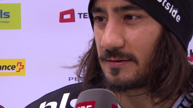 Video «Eishockey: NLA, 28. Runde, Bern-Biel, Interview Blum» abspielen
