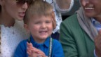 Video «Rührende Szene: Djokovics Junior applaudiert in der Box» abspielen