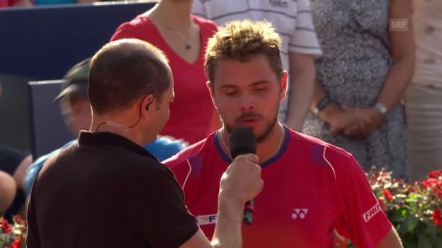 Video «Platz-Interview mit Wawrinka (französisch)» abspielen