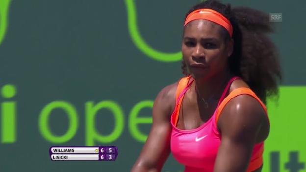 Video «Tennis: WTA Miami, S.Williams-Lisicki» abspielen