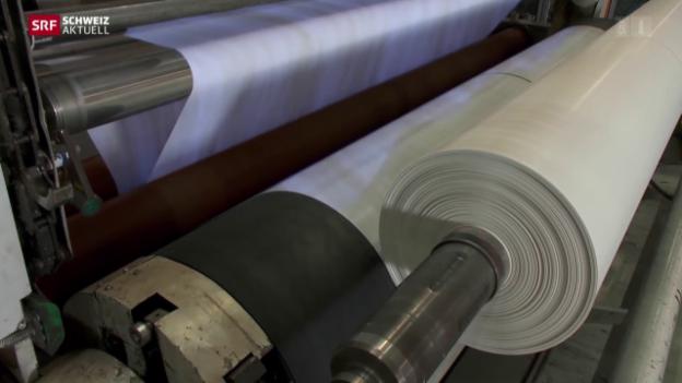 Video «Verpackungsunternehmen schliesst Produktion» abspielen
