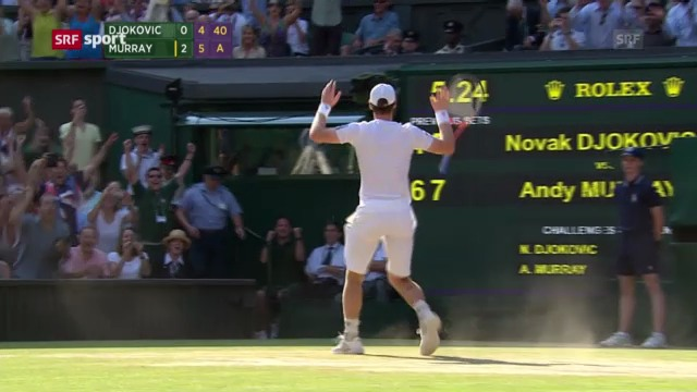 Tennis: Wimbledon-Final Murray - Djokovic («sportpanorama»)