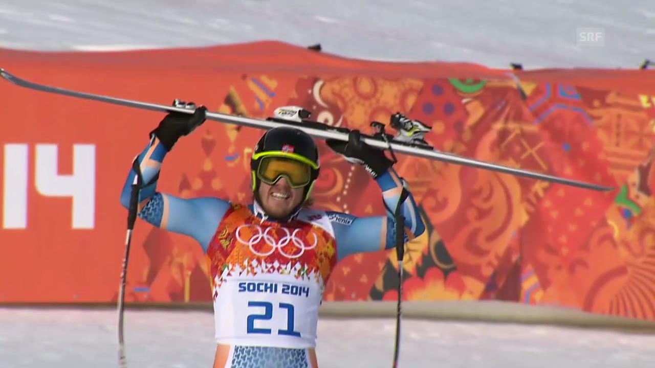 Ski, Super-G, Fahrt von Kjetil Jansrud (sotschi direkt, 16.02.14)