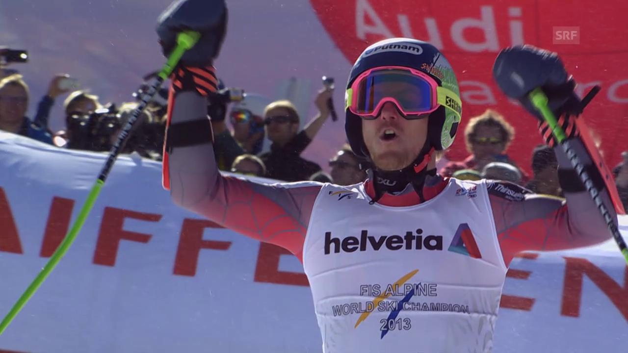Ski alpin: WM 2015 in Vail/Beaver Creek, Riesenslalom der Männer, 2. Lauf von Sieger Ted Ligety