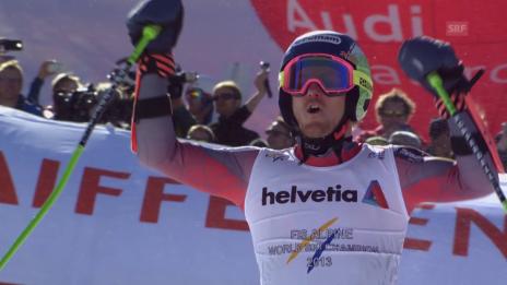 Video «Ski alpin: WM 2015 in Vail/Beaver Creek, Riesenslalom der Männer, 2. Lauf von Sieger Ted Ligety» abspielen