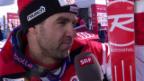 Video «Ski: WM 2015 Vail/Beaver Creek, Super-G Männer, Didier Défago im Interview» abspielen