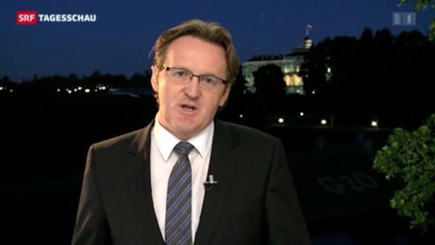 Video «SRF-Korrespondent Christof Franzen zum G-20-Gipfel» abspielen