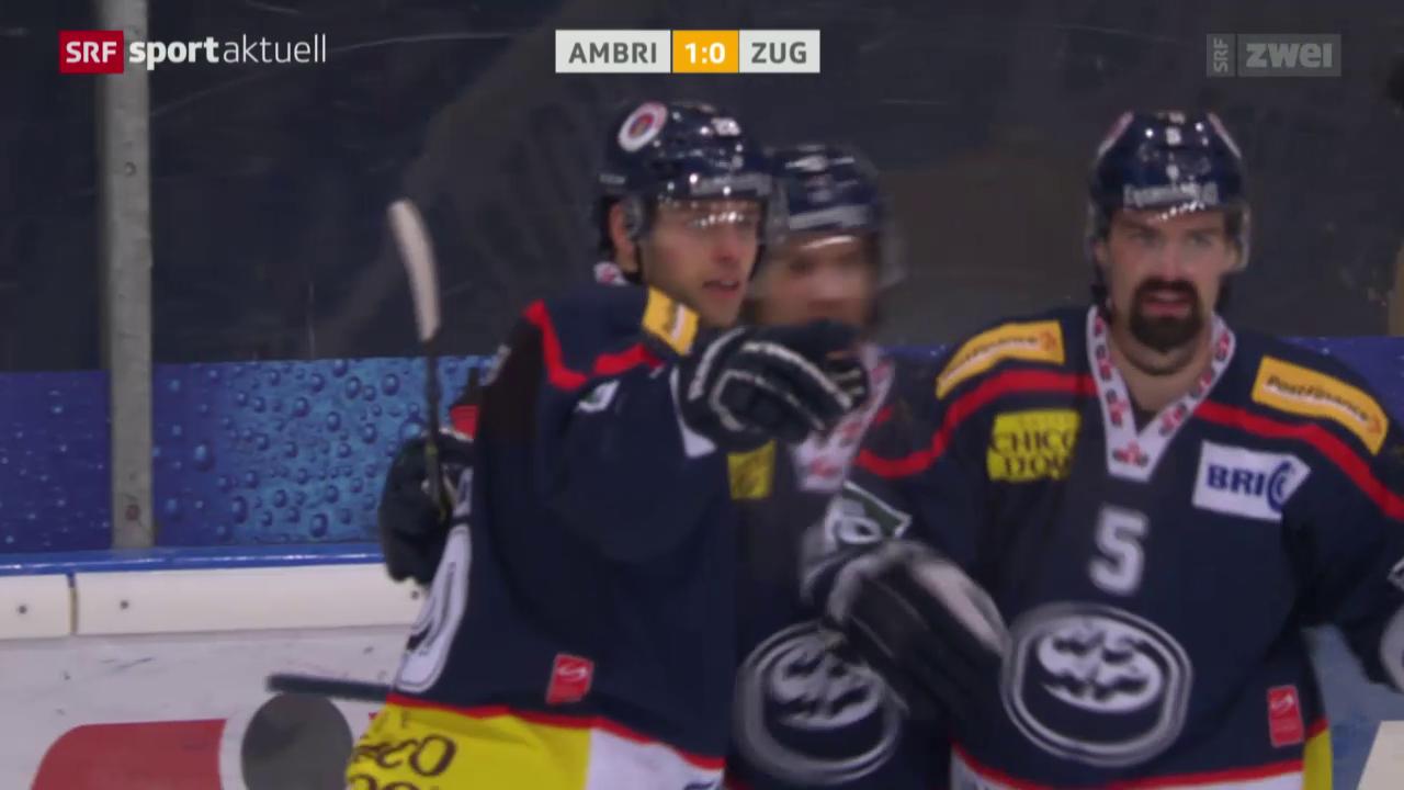 Eishockey, NLA: Ambri - Zug