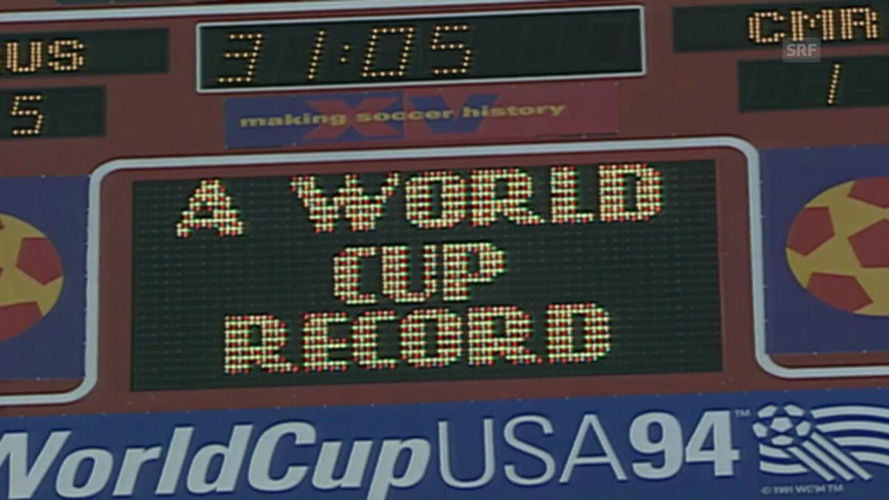 Fussball: Die Rekorde von Roger Milla und Oleg Salenko an der WM 1994 in den USA