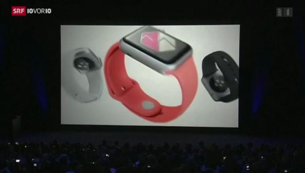 Video «Apple präsentiert smarte Uhr und grössere Handys» abspielen