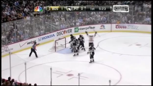 Video «Die Tore von Pittsburgh - Boston» abspielen