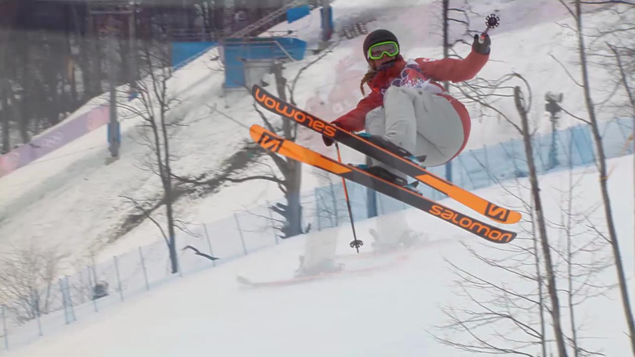 Freestyle Ski: Slopestyle Frauen, 1. Final-Run Dara Howell (sotschi direkt, 11.02.2014)
