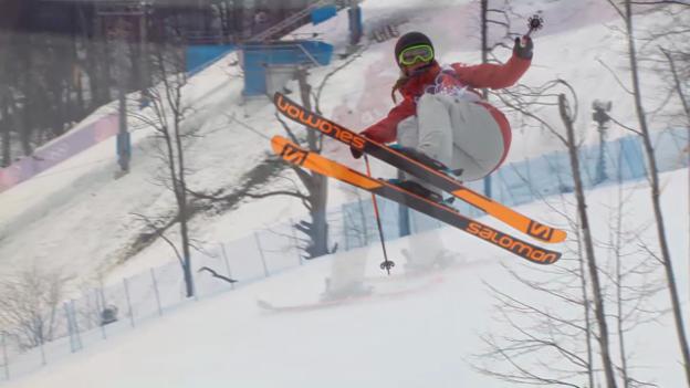 Video «Freestyle Ski: Slopestyle Frauen, 1. Final-Run Dara Howell (sotschi direkt, 11.02.2014)» abspielen