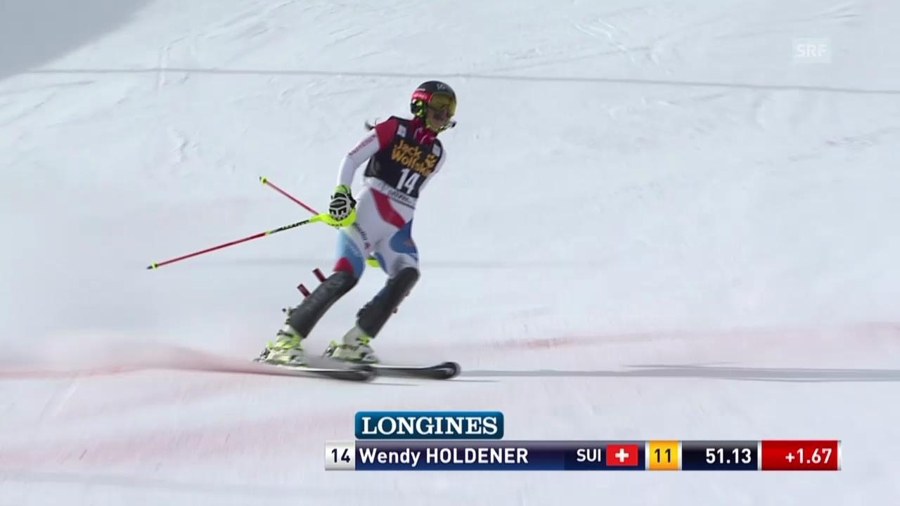Ski Alpin: 1. Lauf Wendy Holdener