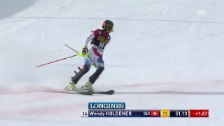 Video «Ski Alpin: 1. Lauf Wendy Holdener» abspielen