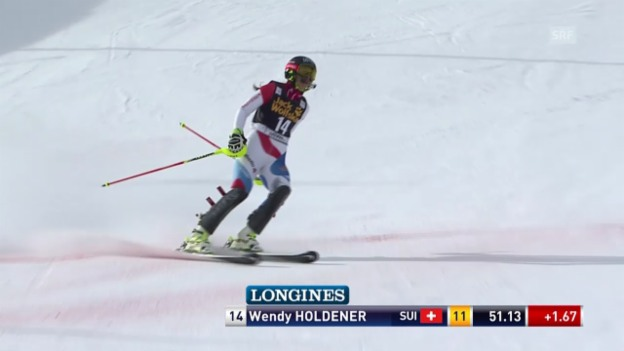 Video «Ski Alpin: 1. Lauf Wendy Holdener» abspielen