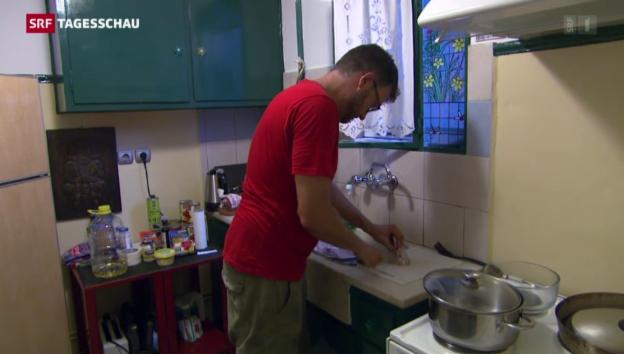 Video «Ein Schweizer kocht für Flüchtlinge» abspielen