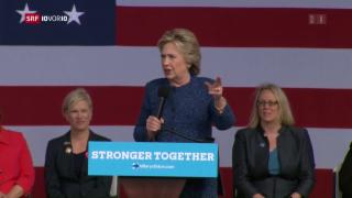 Video «Hillary Clinton gerät unter Druck» abspielen