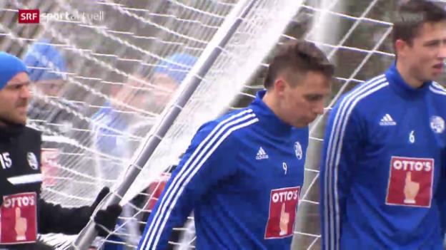 Video «Besuch beim FC Luzern vor dem Rückrundenstart» abspielen
