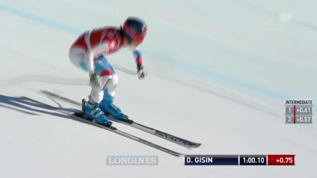 Video «Ski alpin: Die Fahrt von Gisin («sportlive»)» abspielen