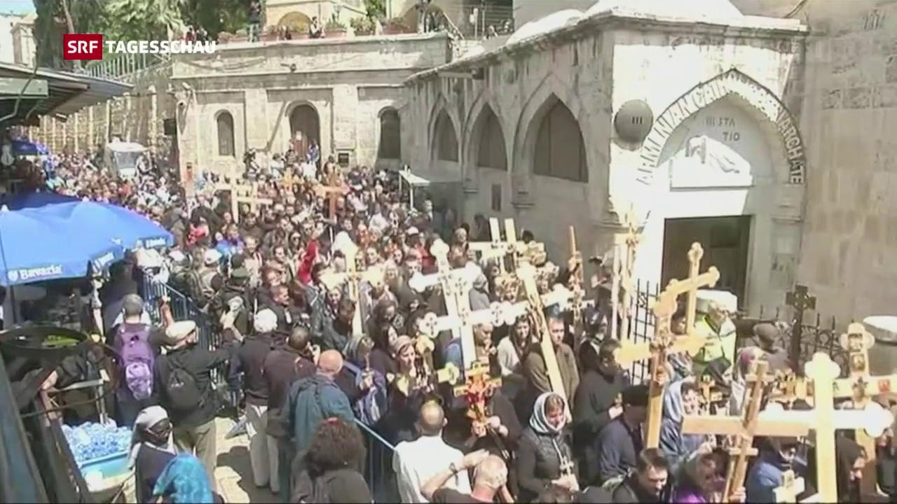 Prozessionen über die Via Dolorosa