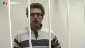 Video «Schweizer Greenpeace-Aktivist Weber auf Kaution frei» abspielen