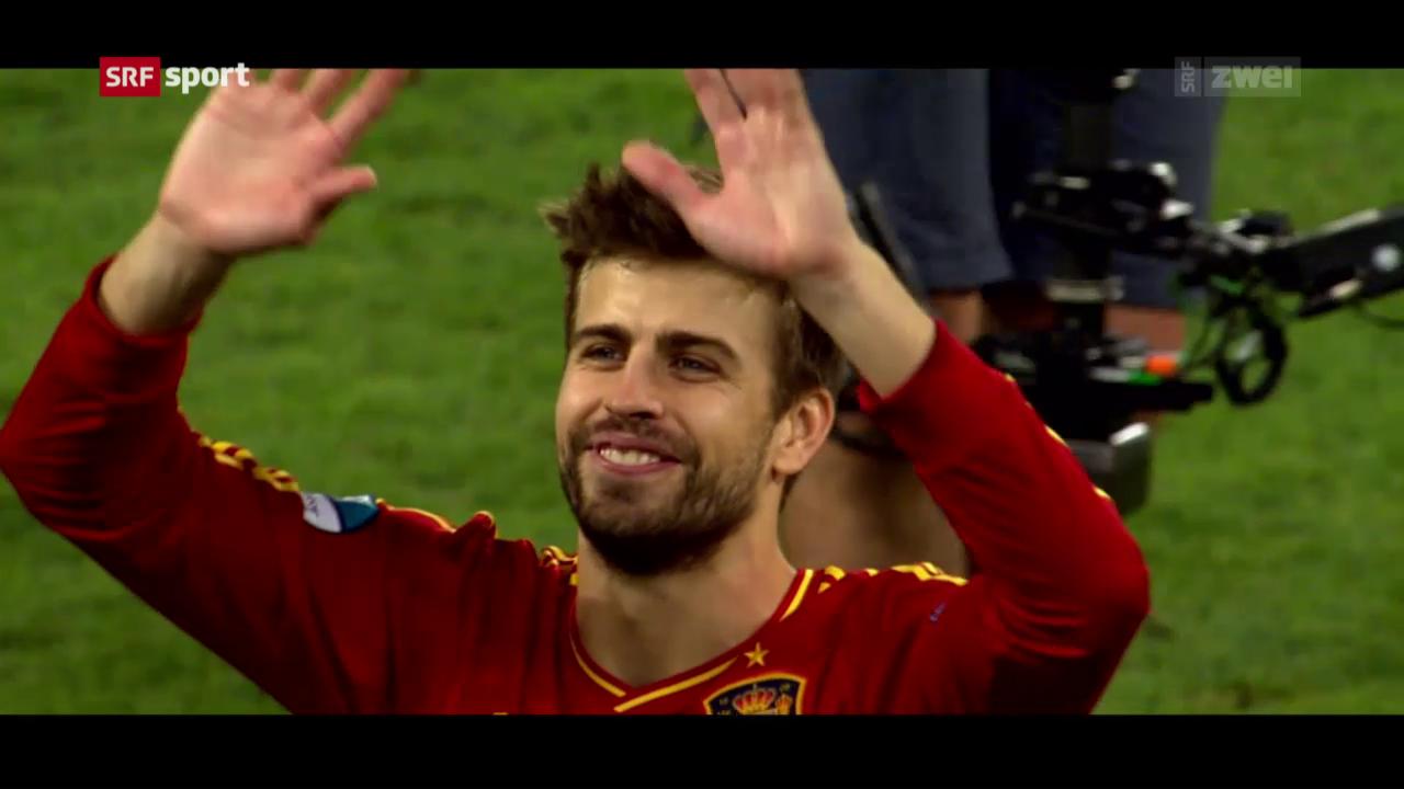 Spanien: Piqué sichert hinten ab
