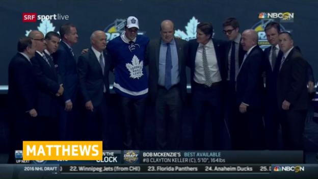 Video «Matthews erstmals im Toronto-Shirt» abspielen