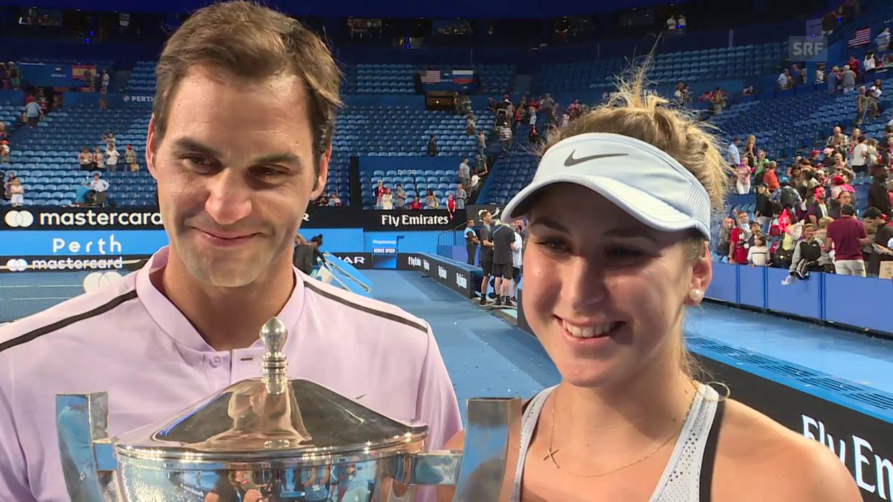 Federer: «Belinda hat im Doppel unglaublich gespielt»