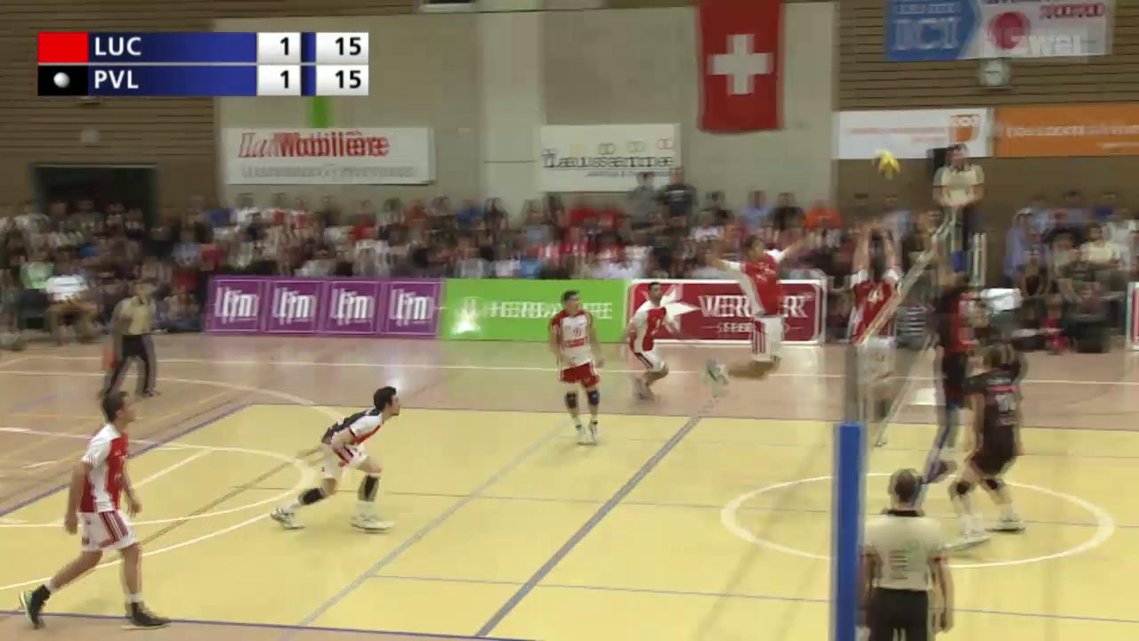 Volleyball: Playoff-Final Männer, Spiel 4, Lausanne UC-Lugano