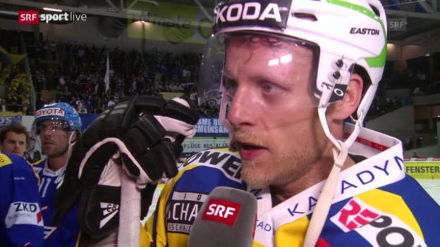 Video «Eishockey: Interview mit Reto von Arx («sportlive», 11.03.14)» abspielen