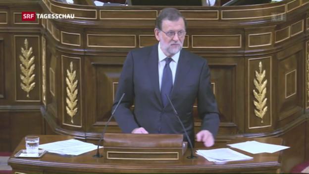 Video «Proteste vor Rajoy-Wahl» abspielen