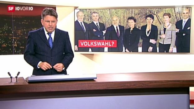 Video «Bundesrat lehnt Volkswahl-Initiative ab» abspielen