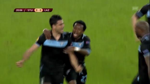 Video «Fussball: EL-Achtelfinal Stuttgart - Lazio» abspielen