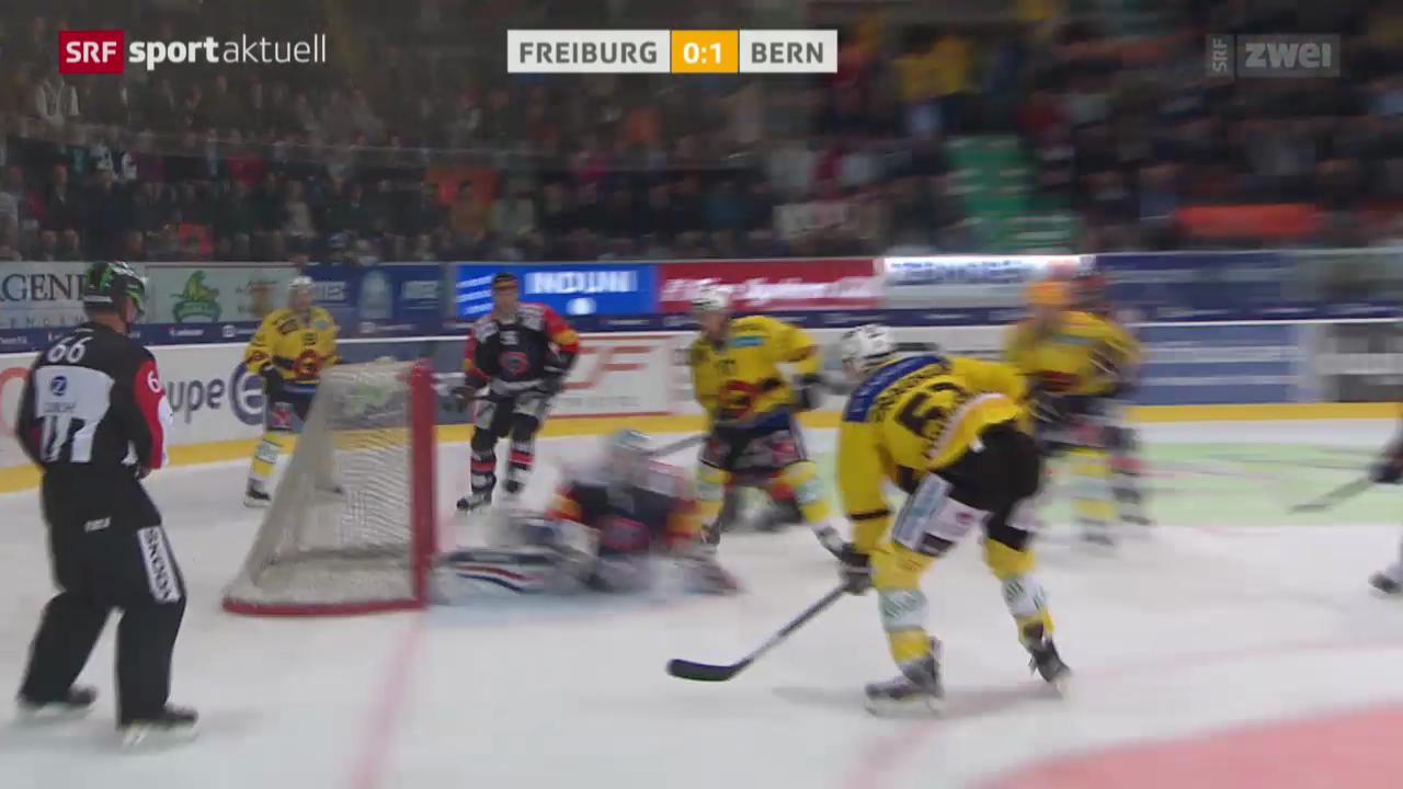 Eishockey: NLA, Freiburg - Bern