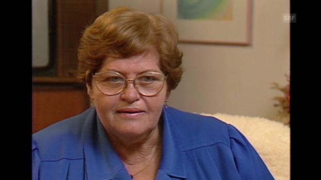 Video «Porträt von Rosmarie Buri (Schweiz aktuell, 23.11.1990)» abspielen