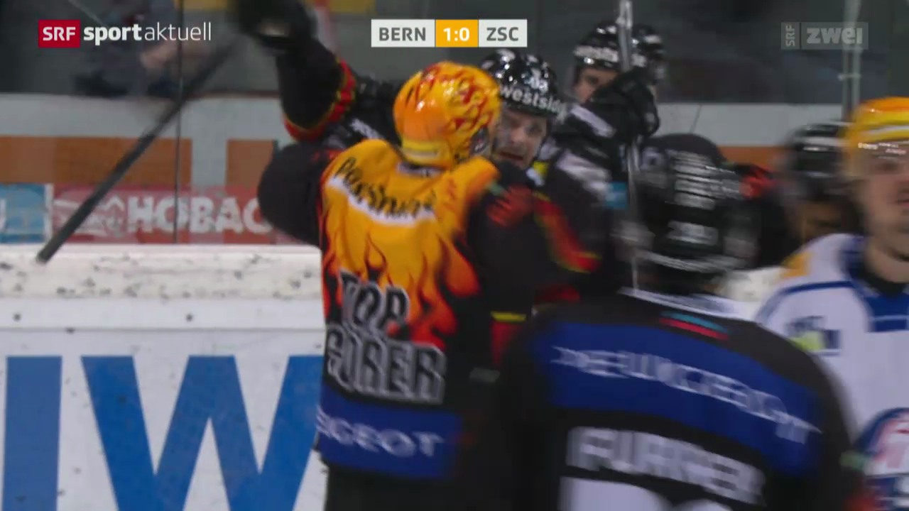 Eishockey: NLA, SCB - ZSC, das 1:0 durch Martin Plüss
