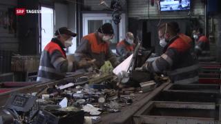 Video «Weniger Einnahmen bei Recycling » abspielen