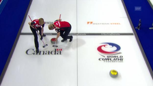 Video «Schweizer Curling-Frauen schlagen Dänemark» abspielen