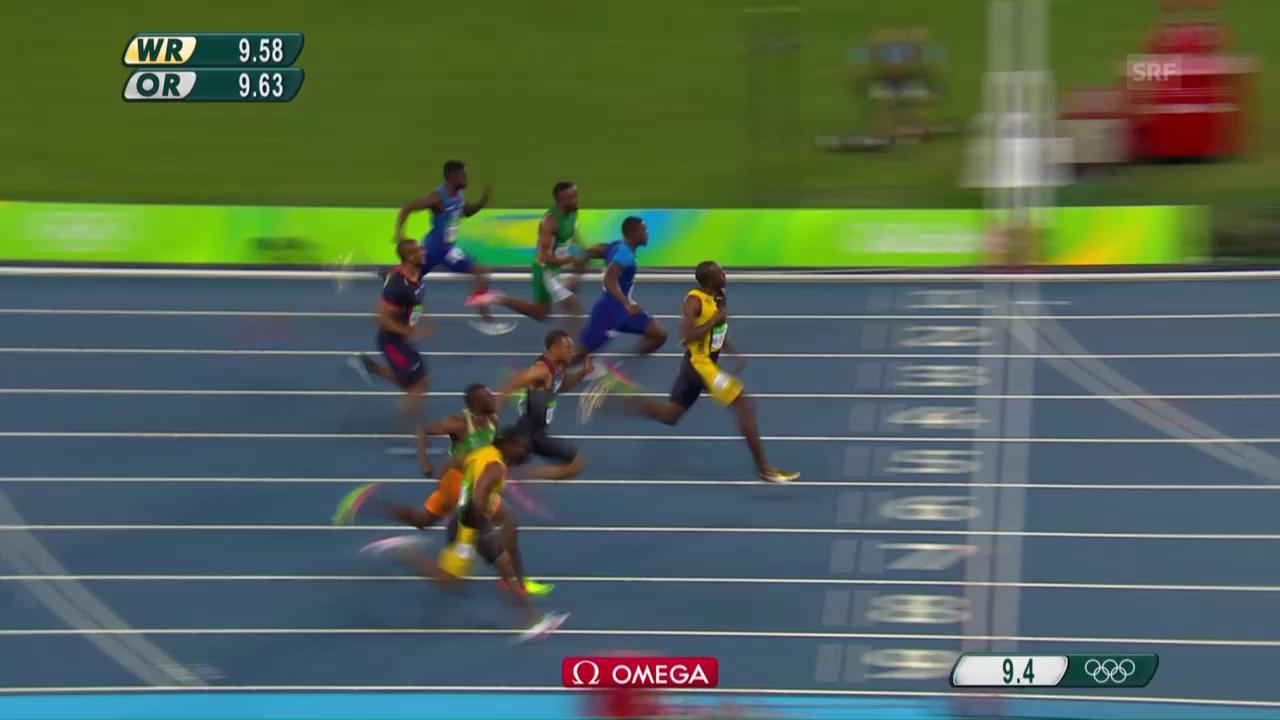 Bolt gewinnt Gold über 100 m