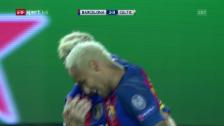 Video «Blonde Barcelona-Power gegen Celtic» abspielen